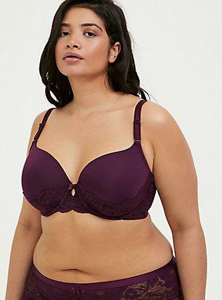 Grape Purple 360° Back Smoothing™ Lightly Lined T-Shirt Bra , POTENT PURPLE, hi-res