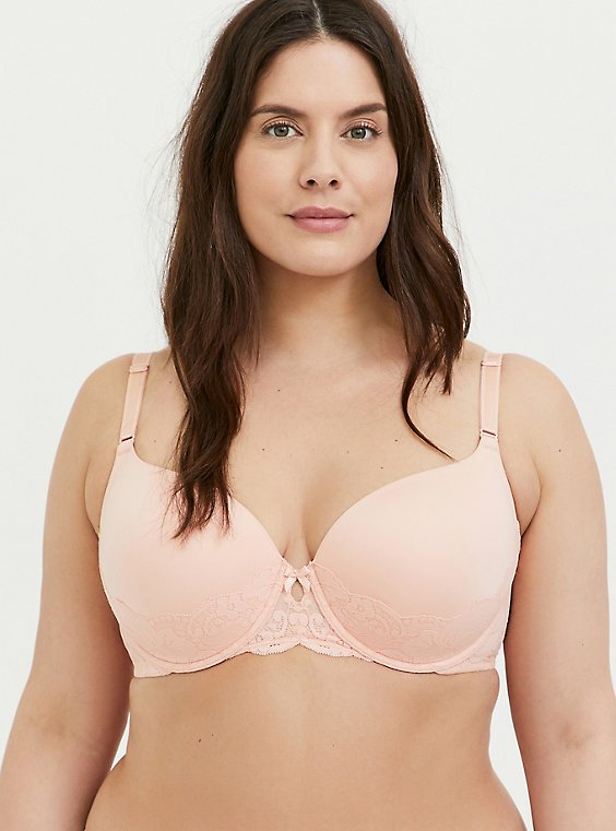 Peach Pink 360° Back Smoothing™ Lightly Lined T-Shirt Bra, PEACH MELBA, hi-res