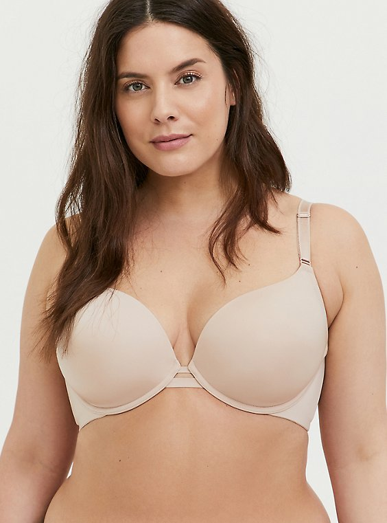 Plus Size Nude 360° Back Smoothing™ Lightly Lined Plunge Bra, , hi-res