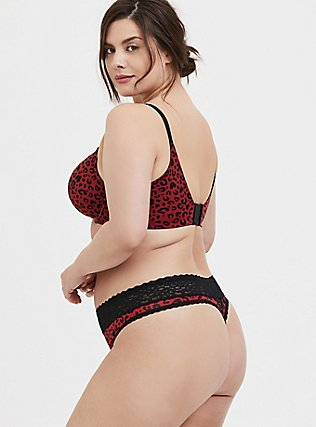 Red Leopard Corset 360° Back Smoothing™ Push-Up Plunge Bra, , alternate