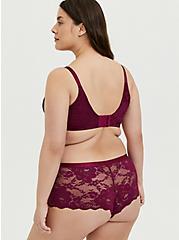 Berry Purple Lace 360° Back Smoothing™ Push-Up Plunge Bra, NAVARRA, alternate