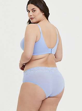 Plus Size Periwinkle Blue 360° Back Smoothing™ Push-Up Plunge Bra, , alternate