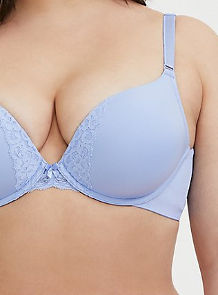 Periwinkle Blue 360° Back Smoothing™ Push-Up Plunge Bra, , alternate