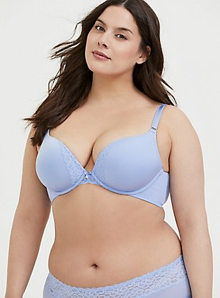 Periwinkle Blue 360° Back Smoothing™ Push-Up Plunge Bra, , hi-res