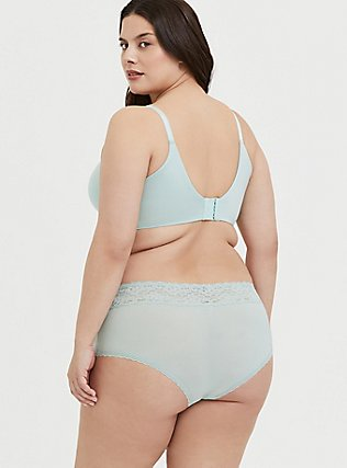 Plus Size Mint Green 360° Back Smoothing™ Push-Up Plunge Bra, HARBOR GREY, alternate