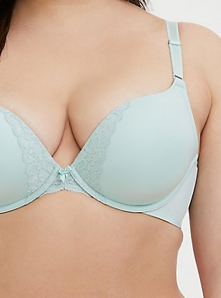 Mint Green 360° Back Smoothing™ Push-Up Plunge Bra, HARBOR GREY, alternate