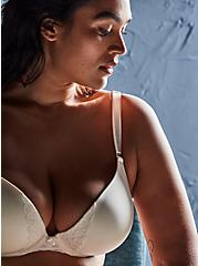 Ivory 360° Back Smoothing™ Push-Up Plunge Bra, CLOUD DANCER, hi-res