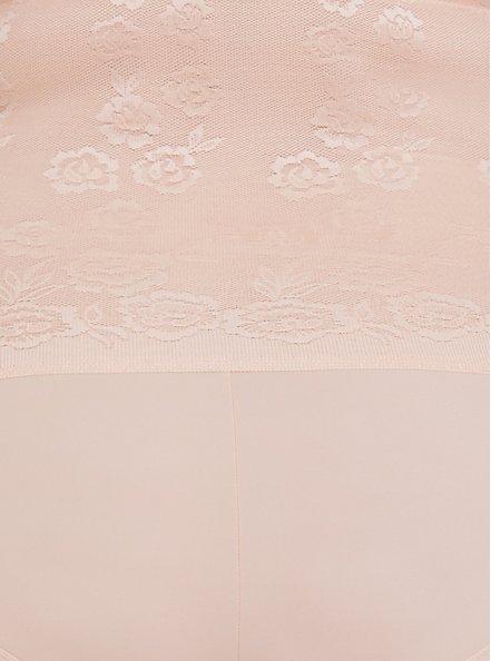Beige Microfiber 360° Smoothing™ Ultra High Waist Brief Panty , ROSE DUST, alternate