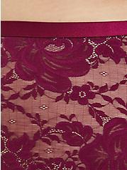 Plus Size Berry Purple Lace Cheeky Panty , NAVARRA, alternate