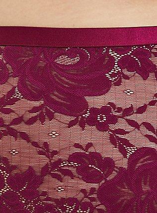 Berry Purple Lace Cheeky Panty , NAVARRA, alternate