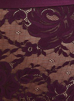 Grape Purple Lace Cheeky Panty, POTENT PURPLE, alternate