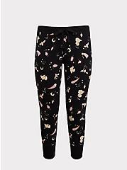 Black Crystal Floral Drawstring Sleep Pant, MULTI, hi-res