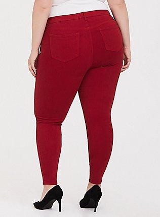 Sky High Skinny Jean - Premium Stretch Red, CHILLI PEPPER, alternate
