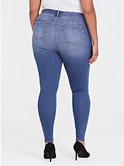 Bombshell Skinny Jean - Premium Stretch Medium Wash, HEARTTHROB, alternate