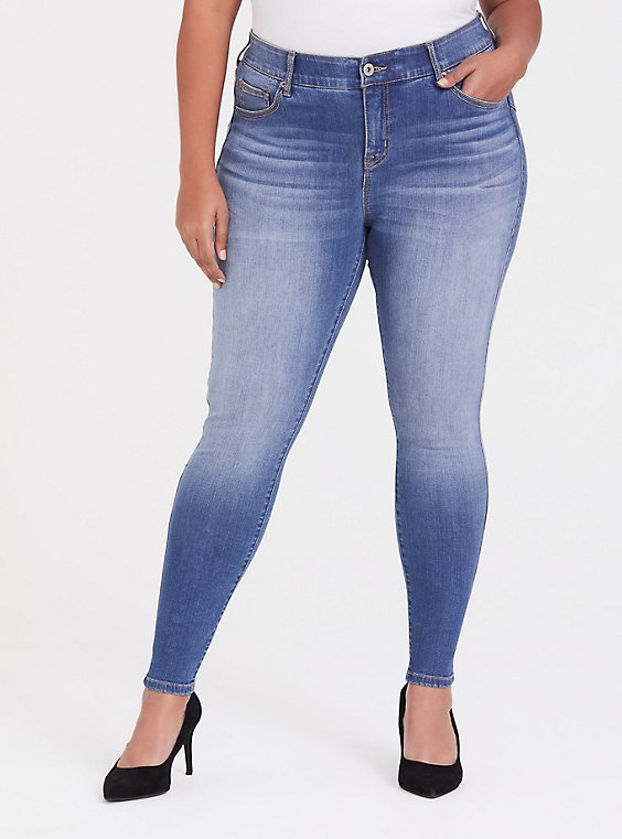 Plus Size Bombshell Skinny Jean - Premium Stretch Medium Wash, , hi-res