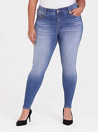 Bombshell Skinny Jean - Premium Stretch Medium Wash, HEARTTHROB, hi-res