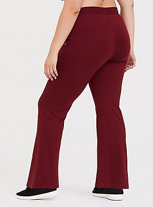 Burgundy Active Yoga Pant, BURGUNDY, alternate