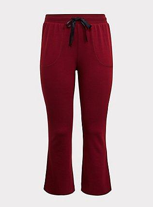 Burgundy Active Yoga Pant, BURGUNDY, flat