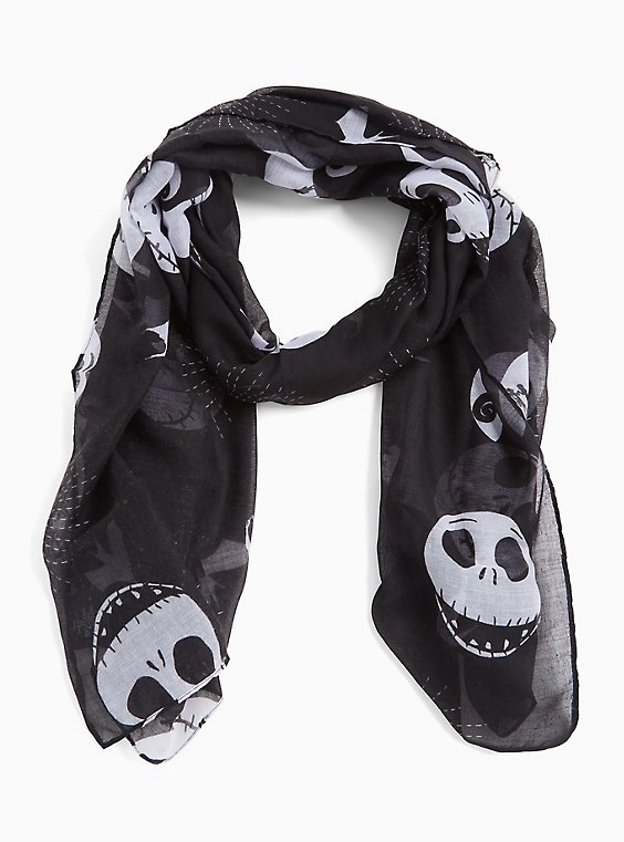 Disney The Nightmare Before Christmas Black Scarf, , hi-res