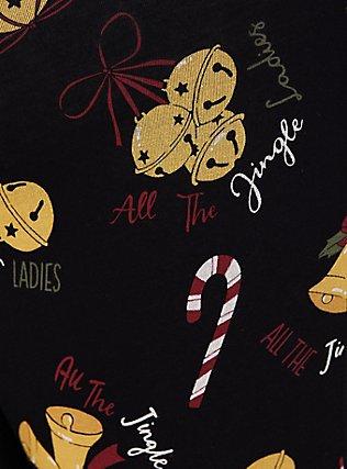 Premium Legging - Jingle Bells Print Black, MULTI, alternate