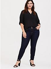 Plus Size Harper - Black Window Pullover Blouse, DEEP BLACK, alternate