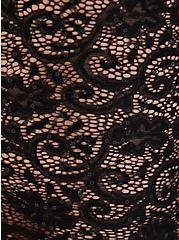 Premium Legging - Sequin Lace Semi-Sheer Black, BLACK, alternate