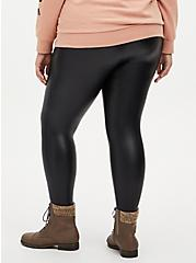 Platinum Legging – Faux Leather Fleece Lined Black, BLACK, alternate