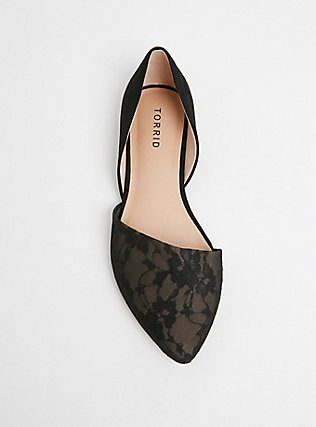 Black Lace D'Orsay Flat (WW), BLACK, alternate