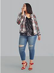 Plus Size Sophie - Black Sequin Swing Cami, DEEP BLACK, hi-res