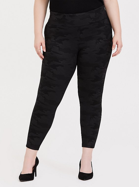 Premium Ponte Pull-On Pixie Pant - Black Camo , , hi-res