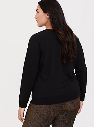Party Gold Sequin & Black Sweatshirt, DEEP BLACK, alternate