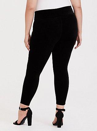 Velvet Pull-On Pixie Pant - Black, DEEP BLACK, alternate