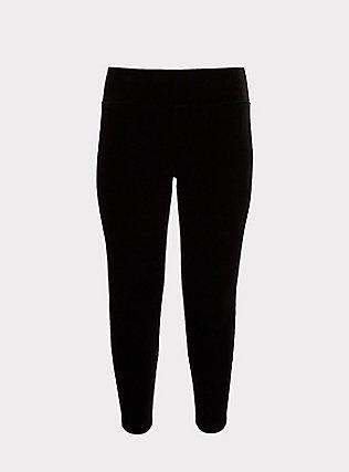 Velvet Pull-On Pixie Pant - Black, DEEP BLACK, flat