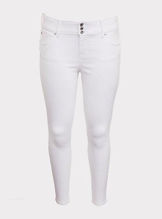 Jegging - Super Stretch White, WINTER WHITE, flat