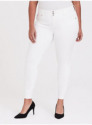 Jegging - Super Stretch White, WINTER WHITE, hi-res
