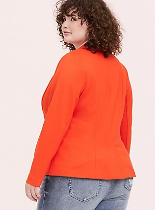 Orange Premium Ponte Blazer, TANGERINE TANGO, alternate