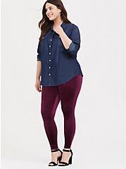 Premium Legging - Velvet Burgundy Purple, PURPLE, hi-res