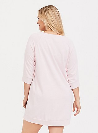 Plus Size Pink Namastay At Home Cats Lounge Sweatshirt, PINK, alternate
