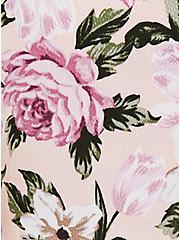 Light Pink Floral Wash & Wear Cold Shoulder Babydoll Blouse, MULTI, alternate