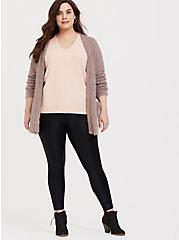 Light Pink Sweater Knit Long Sleeve Top, PALE BLUSH, alternate