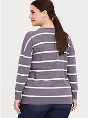 Slate Grey Stripe Pullover Sweater, STRIPES, alternate