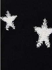 Black & White Textured Star Pullover Sweatshirt, DEEP BLACK, alternate
