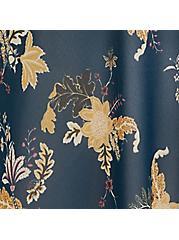 Outlander Dark Teal Floral Chiffon Sharkbite Chemise, MULTI FORAL, hi-res