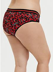 Plus Size Marvel Deadpool Red & Black Cotton Hipster Panty, MULTI, alternate
