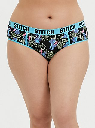 Disney Lilo & Stitch Black Cotton Hipster Panty, MULTI, hi-res