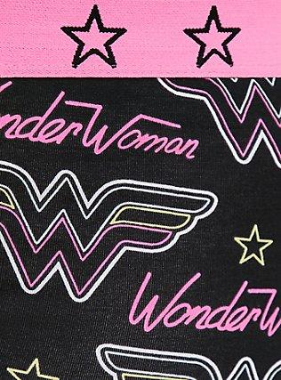 Wonder Woman Black & Pink Cotton Boyshort Panty, MULTI, alternate