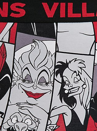 Disney Villains Black Cotton Boyshort Panty, MULTI, alternate