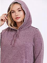 Washed Purple Wine Side-Zip Hoodie, EGGPLANT, hi-res