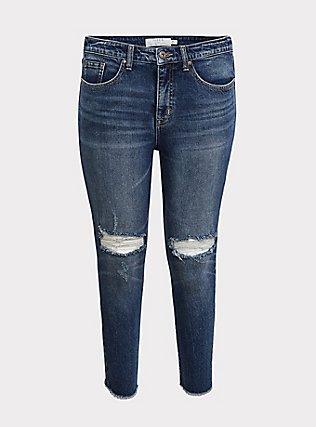 High Rise Straight Jean - Dark Wash, KENTUCKY STRAIGHT, flat