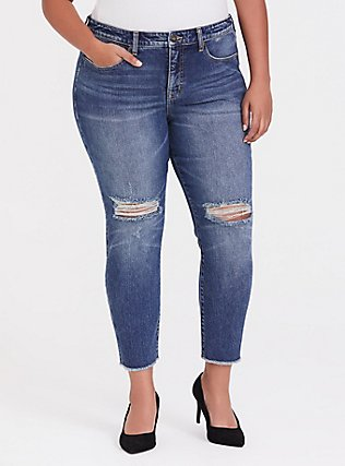 High Rise Straight Jean - Vintage Stretch Dark Wash, KENTUCKY STRAIGHT, hi-res